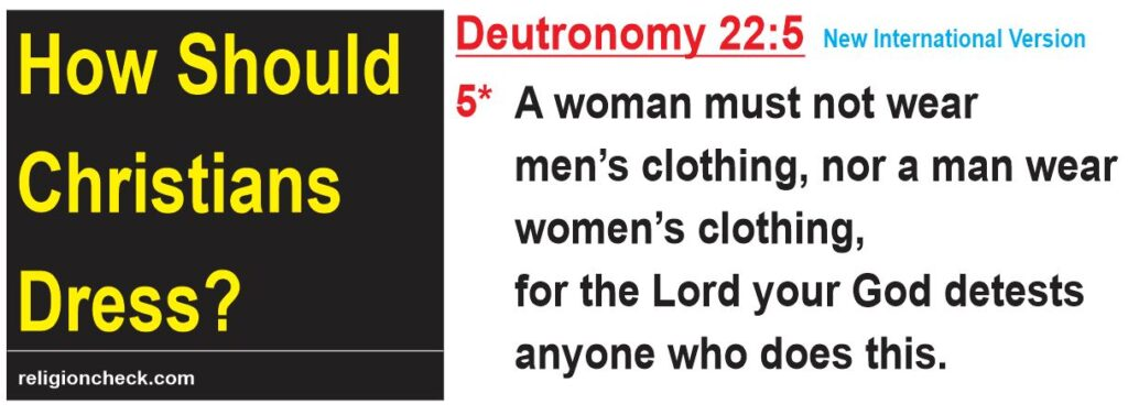 How Should Christians Dress, Biblical Dress Code