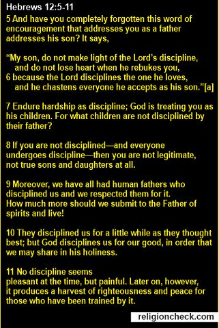 Bible Verse About God's Punishment and Discipline