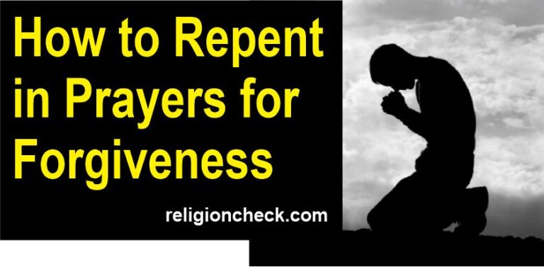 How to Repent in Prayers for Forgiveness